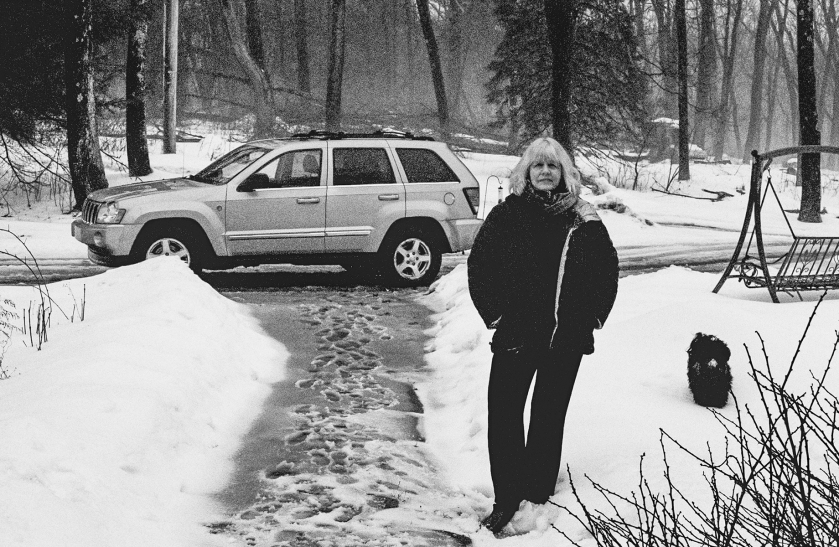 Mom in the snow